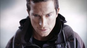 Framegrab from the Stereoscopic trail for Discovery promoting Bear Grylls