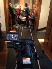 Setting up the tracking shot